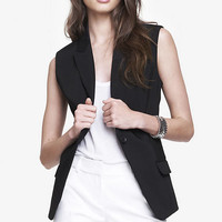 ULTIMATE DOUBLE WEAVE SUIT VEST from EXPRESS