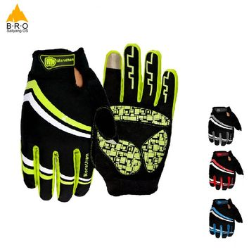 BRO Bicycle Full Finger Gloves Men/women Cycling long Gloves Non-slip MTB Bike Glove Breathable Shockproof Guantes Ciclismo GEL