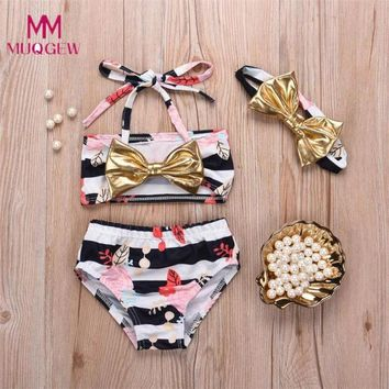 Childrens Swimsuit Cute 2018 New Summer Girls Swimwear Kids Baby Stars Stripe Straps  Bathing Bikini Girls Bathing Suit Children Swimwear 6M~4y KO_25_2