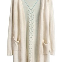 Slouchy Open-Front Long Cardigan - OASAP.com