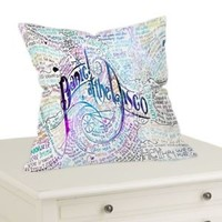 "Panic At The Disco Lyric Decorative Throw Pillow Case Cushion 16 ""18"" 20"" Cover"