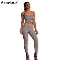 2017 Spring Women Jumpsuit 2 pieces Knitted Romper outfits Long Pant Jumpsuit 2 Piece Set Crop Tops Summer Bodycon Palysuit Gray