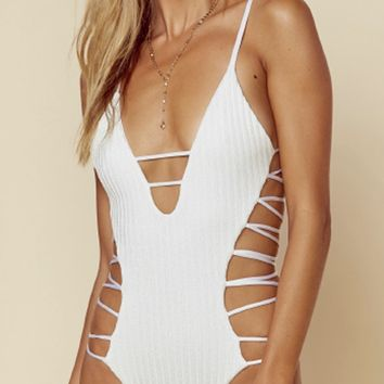 Blue Life Infinity One-Piece in Diamond White 444-9424