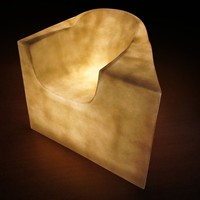 Garden armchair with light NAMORADEIRA by Karpa