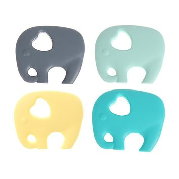 Silicone Elephant Baby Teether Toy Infant Toddler Cartoon Pendant Teether Chew Toy Baby Safety Holder Teething Kids Dental Care