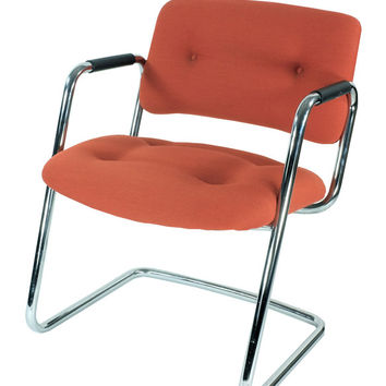 orange steelcase office chair