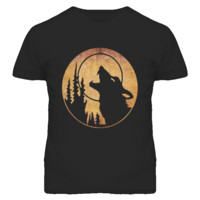 Howl at the Moon Wolf Halloween T Shirt