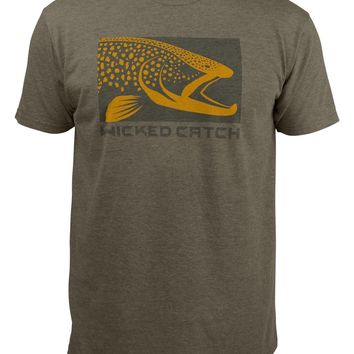 Wicked Brown Trout Fishing T-Shirt