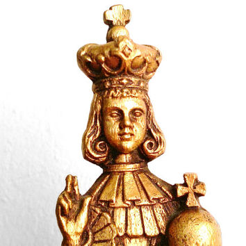 Infant Jesus of Prague figure, Catholic, statue, icon,