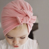 new rabbit bunny ears knot baby girls kids headbands hair head bands accessories for children hair turban headwrap headdress