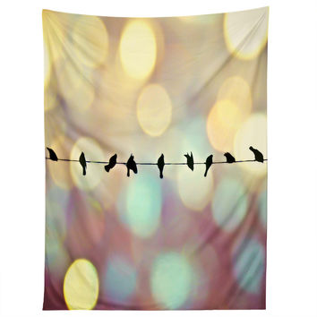 Shannon Clark Birds And Bokeh Tapestry