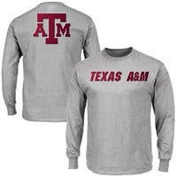 Texas A&M Aggies Majestic Motivation Starters Long Sleeve T-Shirt - Gray