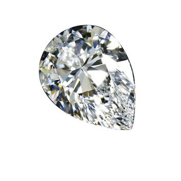 3ct Pear Radiant Diamond Veneer Loose Stone