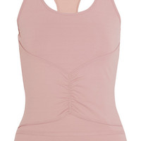 Adidas by Stella McCartney - Ruched Climalite® stretch-jersey tank