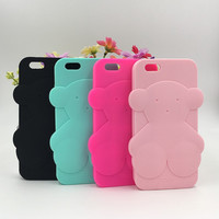 Cute Bear Cartoon Soft Silicone Phone Cases Fundas For Samsung galaxy A3 A5 A7 J3 J5 J7 2016 S6 S7 S7Edge Grand Prime Coque