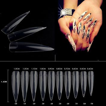 500pcs/pack False Nail Tips Natural /White /Transparent  Acrylic Artificial Half Nail Tips Fake Nail Tools