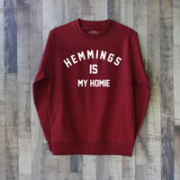 Hemmings is My Homie Shirt Luke Hemmings Shirt Sweatshirt Sweater – Size XS S M L XL
