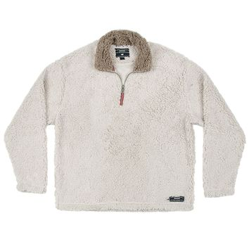 Appalachian Pile Pullover 1/4 Zip in Oatmeal by Southern Marsh - FINAL SALE