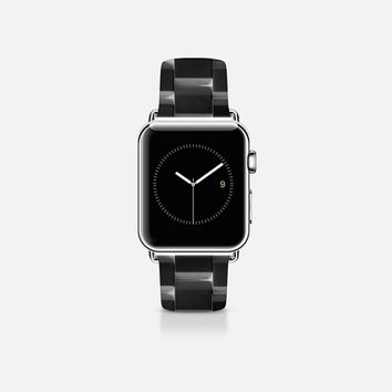 Ceramic style band black Apple Watch Band (38mm) by WAMDESIGN | Casetify