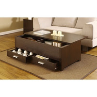 Alister Dark Espresso Transitional Coffee Table