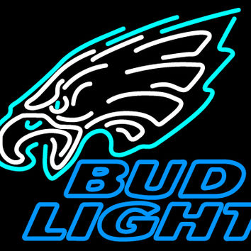Bud Light Philadelphia Eagles NFL Neon Sign