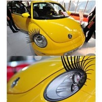 Car Eyelashes Headlight Lamp Auto Sticker Pair