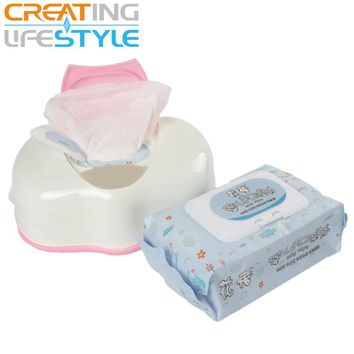 Wet Tissue Box Plastic Automatic Case Real Tissue Case Baby Wipes Press Pop-up Design Home Tissue Holder Accessories