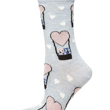 Grey Owl Hot Air Balloon Socks - Dorothy Perkins