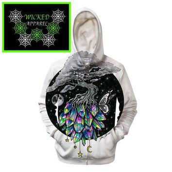 Wicked Apparel Crystal Tree Hoodie By Pixie Cold #142