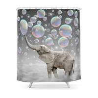 Society6 The Simple Things Are The Most Extraordinary (Elephant-Size Dreams) Shower Curtains