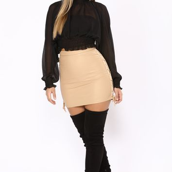 She A Grown Woman Skirt - Beige