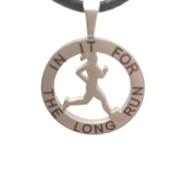 Runner Girl Mantra Charm Necklace - Jewelry by Run Inspired Designs - Style: In It For The Long Run.