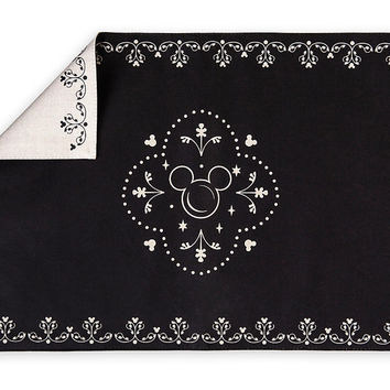 Disney Parks Kitchen Mickey Mouse Black Icons Placemat New with Tags