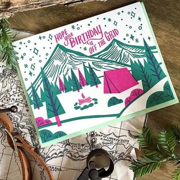 Paper Parasol Press - Off the Grid Birthday Card