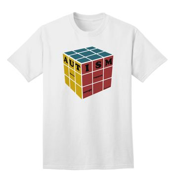 Autism Awareness - Cube Color Adult T-Shirt