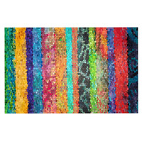 "Catherine Holcombe ""Stained Glass Batik Mosaic Stripe"" Decorative Door Mat"