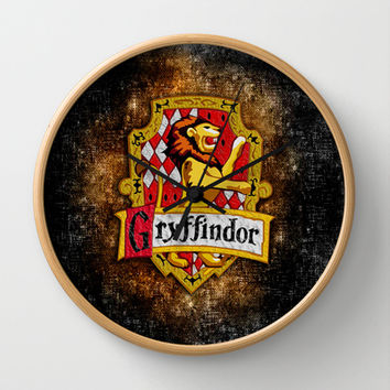 Harry potter Gryffindor team flag Decorative Circle Wall Clock Watch by Three Second