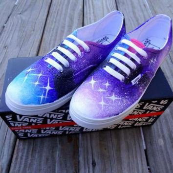 CREYONS Galaxy Vans Shoes by UrbanRags on Etsy