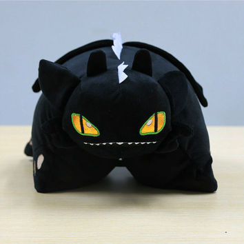 Toothless Night Fury Dragon Pillow Stuffed Doll How to Train Your Dragon Plushie Soft Toy HTTD Cushion Large