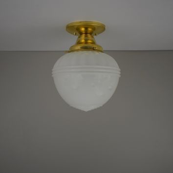 Antique Acorn Flush Mount Light