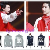 EXO XOXO WOLF GROWL CHAN YEOL LUHAN KRIS JACKET HOODIE FIRST YEAR KPOP NEW