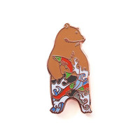Grizzly Bear Enamel Pin