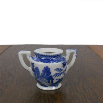 Blue Willow 1950s Sugar Bowl Vintage Toy China Childrens Extra - Great As a Replacement or Addition to a Collection - Made in Occupied Japan