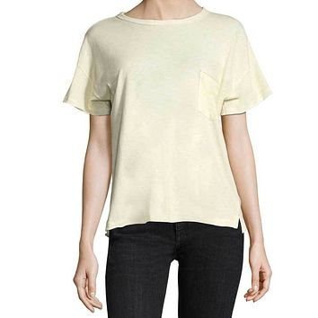 Rag & Bone/Jean Yellow Vintage Crew Tee Shirt