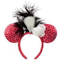 Disney Feathered Minnie Mouse Headband with Silk Rosette | Disney Store