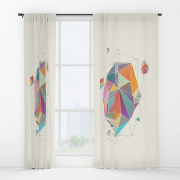 Crystallized VII Window Curtains by printapix