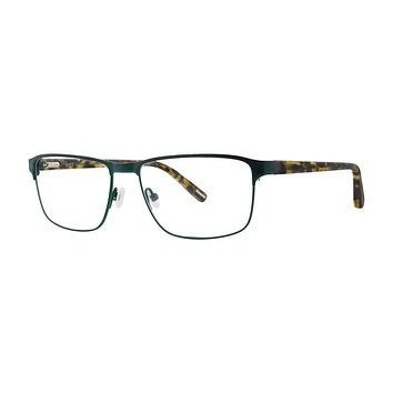 Jhane Barnes - Uniform 56mm Olive Eyeglasses / Demo Lenses