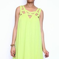 Take A Bite Shift Dress in Green Apple | Double Zero