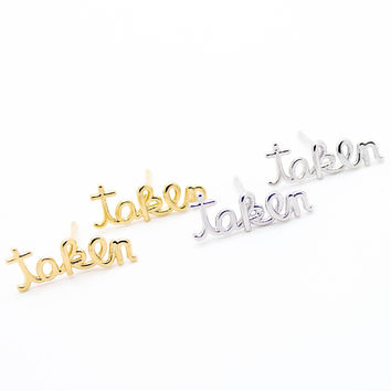 Taken earrings