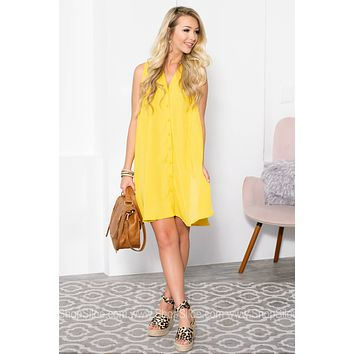 Summer Sunshine Button Up Dress